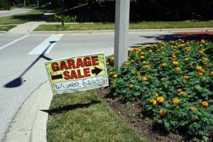 Advertising for a La Grange IL Garage Sale
