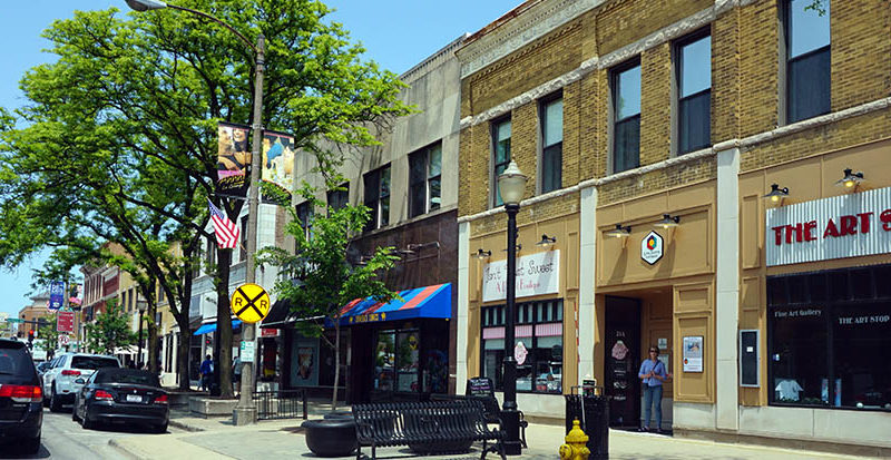 la grange business district downtown