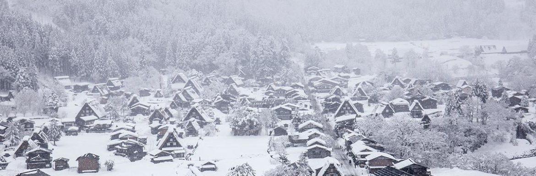 a town under snow