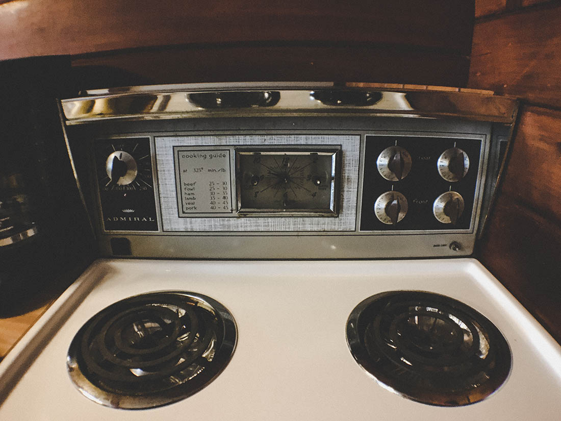 old outdated stove